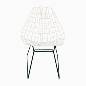 Vintage Danish Wire Thread Chairs by Cees Braakman for Pastoe, Set of 2