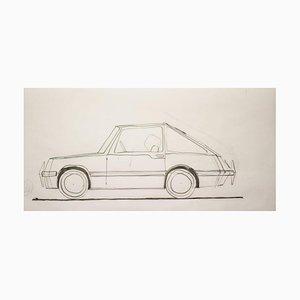 Dibujo de Gio Ponti para Touring Carrozzeria Milan, 1952
