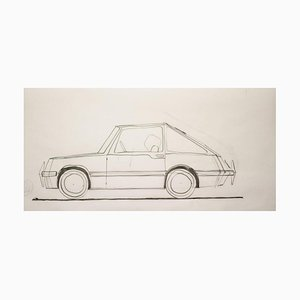 Drawing by Gio Ponti for Touring Carrozzeria Milan, 1952