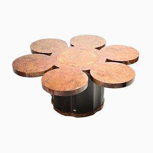 Mesa de comedor Formitalia de madera nudosa de nogal con bar integrado
