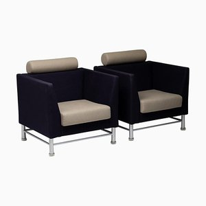 East Side Armchairs by Ettore Sottsass, Set of 2