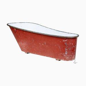 Bañera de cobre rojo y estaño de finales del siglo XIX