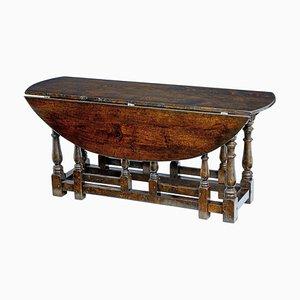 Eiche Gateleg Tisch im georgianischen Stil, 20. Jh