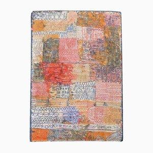 Large Vintage Art Rug by Paul Klee