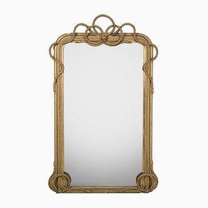 Großer Spiegel mit Seil Motiv