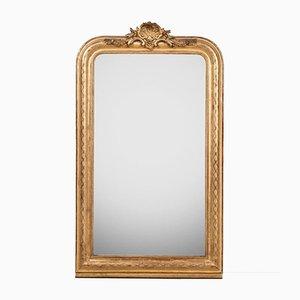 Antiker Spiegel mit Muschelrahmen