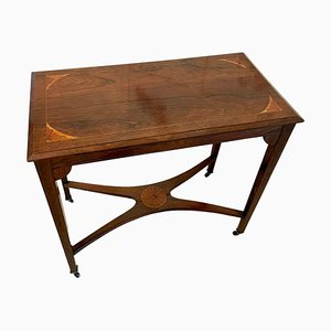 Antique Edwardian Inlaid Rosewood Side Table
