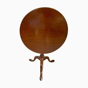 Antiker runder George III Mahagoni Tisch mit kippbarer Tischplatte