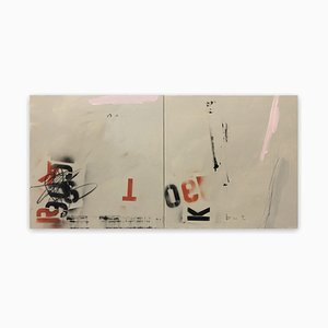Tim Fawcett, No but, 2020, Acrylic & Spray Paint on Canvas