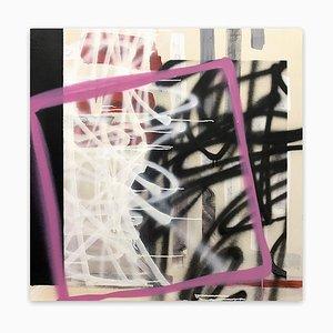 Tim Fawcett, No Need to Shout, You're Man-Sized!, 2020, acrilico e vernice spray su tela