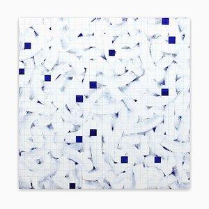 Tom Henderson, Deep Blue, 2016, Oil Paint on Reflective Cast Acrylic