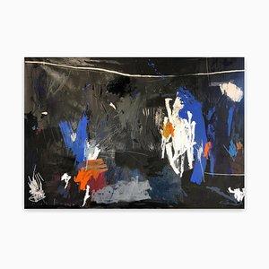 Nathan Paddison, EveAnneArtKnight, 2021, Acryl, Pastell, Sprühfarbe und Bleistift auf Leinwand