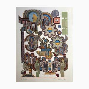 Eduardo Paolozzi, Ciao Picasso, 1975, Serigrafía sobre papel