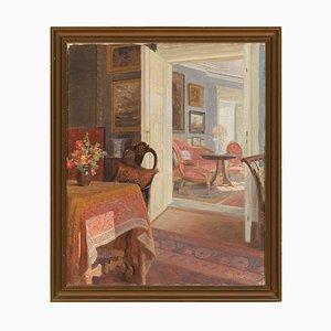 Robert Gustav Otto Panitzsch, Interior Szene, 1940, Öl auf Leinwand