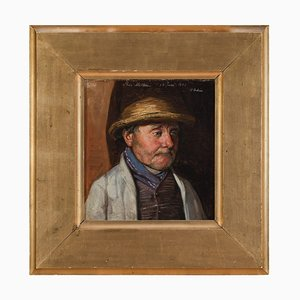 Georg Achen, Portrait von Lars Mathson und Publican, 1882, Öl auf Leinwand