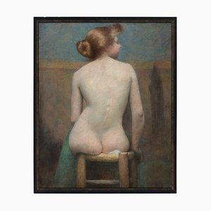 Escuela danesa de principios del siglo XX, desnudo femenino, años 10, óleo sobre lienzo