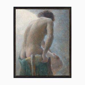 Escuela danesa de principios del siglo XX, desnudo masculino, años 10, óleo sobre lienzo