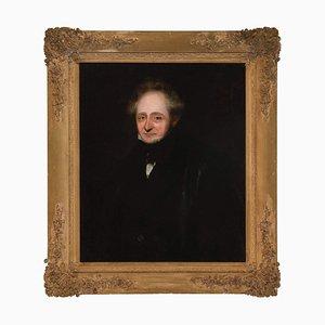Mid-Century Portrait eines Gentleman, 1850er, Öl auf Leinwand, gerahmt