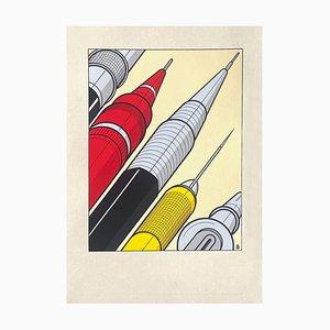 Gilles Boogaerts, Dujardin Agency, 1992, Siebdruck auf weißem Karton