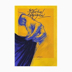 Ernest Pignon-Ernest, Festival D'avignon, 1996, Screen Print on BFK Rives Paper