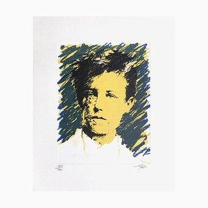 Ernest Ponni-Ernest, Rimbaud Variations IX, 1986, Lithograph on Canson Paper