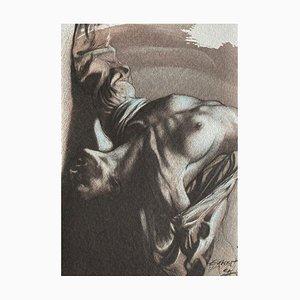 Ernest Pignon-Ernest, Corps d'Extase XII, 2004, Lithografie auf Moulin du Gué Papier