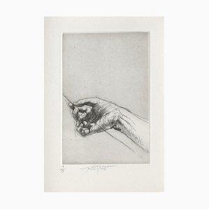 Ernest Pignon-Ernest, Jeu de Mains IV, 2001, Grabado sobre papel BFK Rives