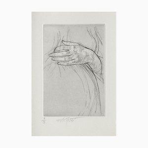 Ernest Pignon-Ernest, Jeu de Mains III, 2001, Etching on BFK Rives Paper