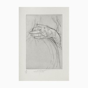 Ernest Pignon-Ernest, Jeu de Mains III, 2001, Grabado sobre papel BFK Rives