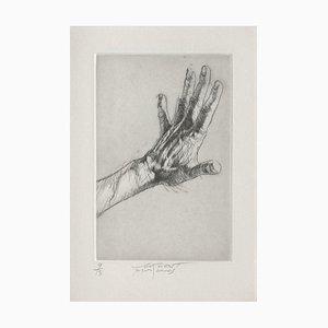 Ernest Pignon-Ernest, Jeu de Mains V, 2001, Etching on BFK Rives Paper