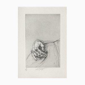 Ernest Pignon-Ernest, Jeu de Mains VII, 2001, Etching on BFK Rives Paper