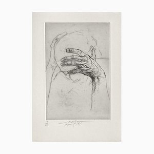 Ernest Pignon-Ernest, Jeu de Mains IV, 2001, Etching on BFK Rives Paper