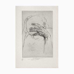 Ernest Pignon-Ernest, Jeu de Mains IV, 2001, Radierung auf BFK Rives Papier