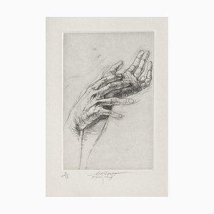 Ernest Pignon-Ernest, Jeu de Mains VIII, 2001, Radierung auf BFK Rives Papier