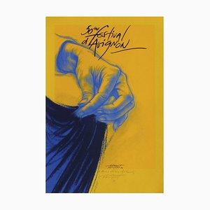 Ernest Pignon-Ernest, Festival D'avignon, 1996, Siebdruck auf BFK Rives Papier
