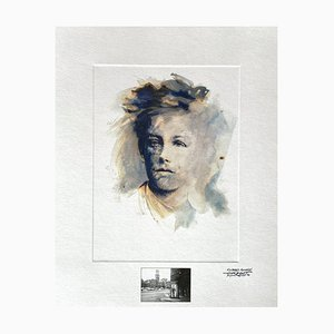 Ernest Pignon-Ernest, Rimbaud Variations XV, 1986, Litografía fotográfica sobre papel Canson
