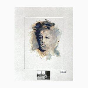 Ernest Pignon-Ernest, Rimbaud Variations XV, 1986, Photo Lithographie auf Canson Papier