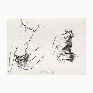 Ernest Pignon-Ernest, Autres jeunes filles I, 1988, Lithograph on BFK Rives Paper