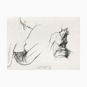 Ernest Pignon-Ernest, Autres jeunes filles I, 1988, Lithographie auf BFK Rives Papier