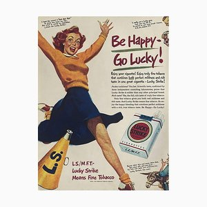 Collectif Publicite, Be Happy, Go Lucky, Lucky Strike Advertising II, 1980, Screen Print on Coated Paper
