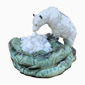 Azucarero / cenicero icónico oso polar