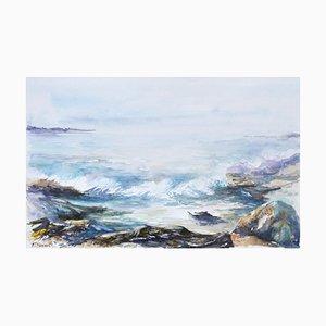 Fabien Renault, Les vagues, 2021, Watercolor on Paper