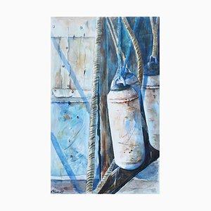 Fabien Renault, Les cordages, 2021, Watercolor on Paper