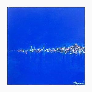 Valérie Dragacci, Calvi by Night, 2021, Oil on Canvas