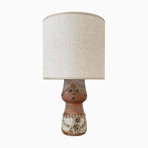 Mid-Century Tischlampe aus Keramik von Thérèse Bataille für Dour Belgium