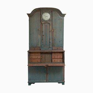 Reloj sueco rococó y gustaviano de pino, siglo XIX