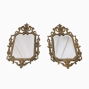 Victorian Antique Wall Mirrors, Set of 2
