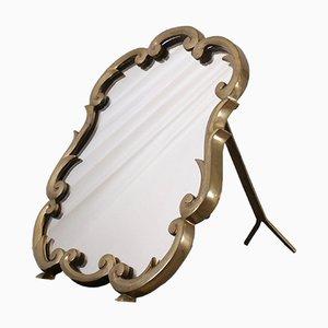 Art Deco Brass Mirror, 1930s