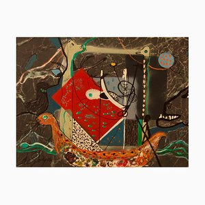 George De Goya, Eric the Red, Vikings, 1970, Mixed Media, Gerahmt