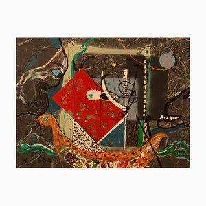 George De Goya, Eric the Red, Vikings, 1970, Técnica mixta, Enmarcado